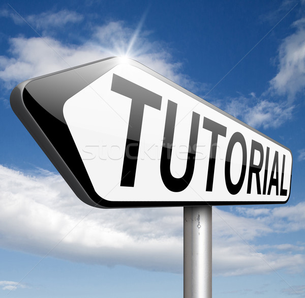 Tutorial aprender on-line vídeo lição Foto stock © kikkerdirk