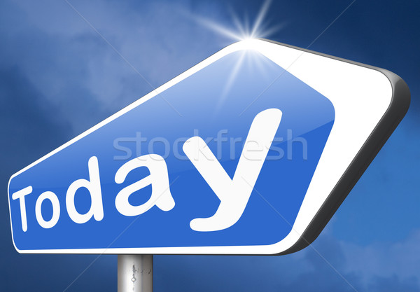 today agenda Stock photo © kikkerdirk