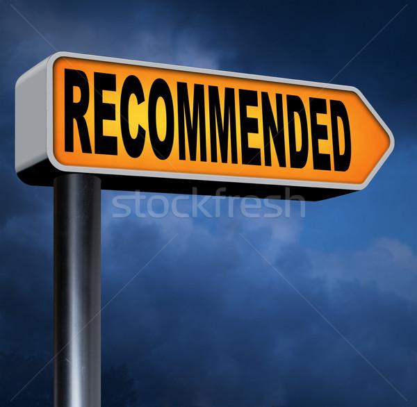 Topo qualidade produto recomendação assinar Foto stock © kikkerdirk