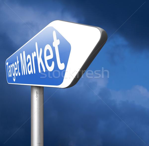 Hedef pazar iş niş pazarlama stratejisi Stok fotoğraf © kikkerdirk
