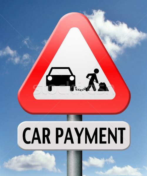 Autó fizetés kölcsön bank finanszírozás drága Stock fotó © kikkerdirk