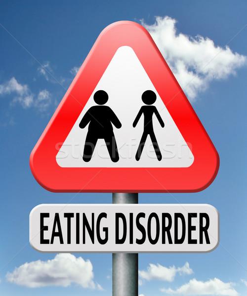 Eszik zűrzavar anorexia elhízottság elhízott étel Stock fotó © kikkerdirk