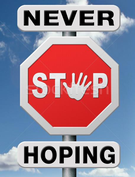 never stop hoping Stock photo © kikkerdirk
