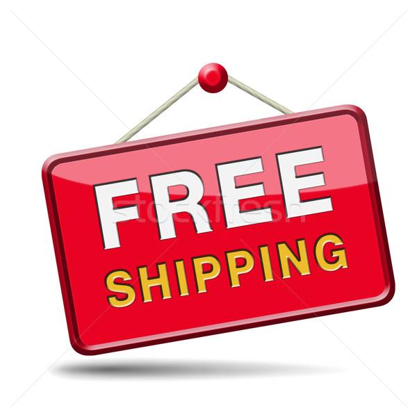 Ingyenes szállítás házhozszállítás rendelés háló bolt szállítmány Stock fotó © kikkerdirk