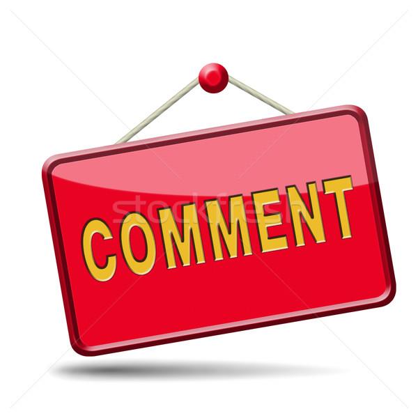 Comentar ícone assinar comentários blog dar Foto stock © kikkerdirk