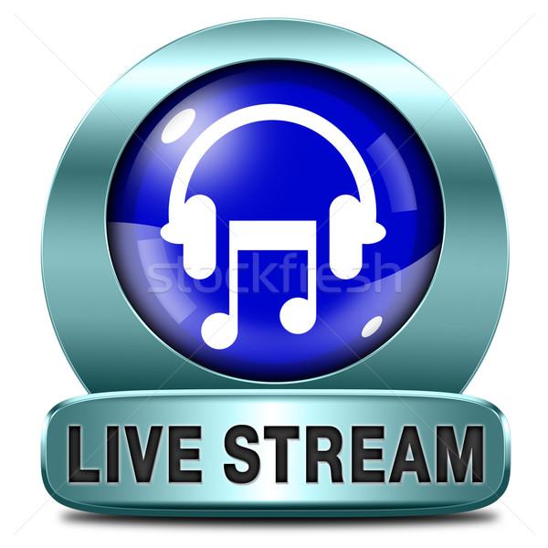 élet folyam zene hallgat dal audio Stock fotó © kikkerdirk