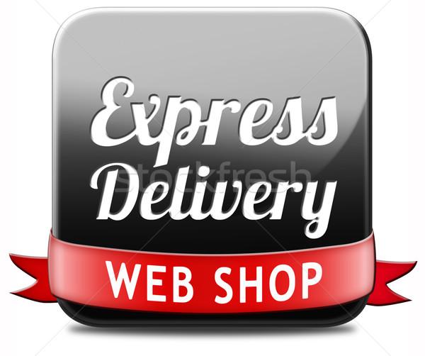 Expressz szállítás háló bolt csomag szállítás online Stock fotó © kikkerdirk
