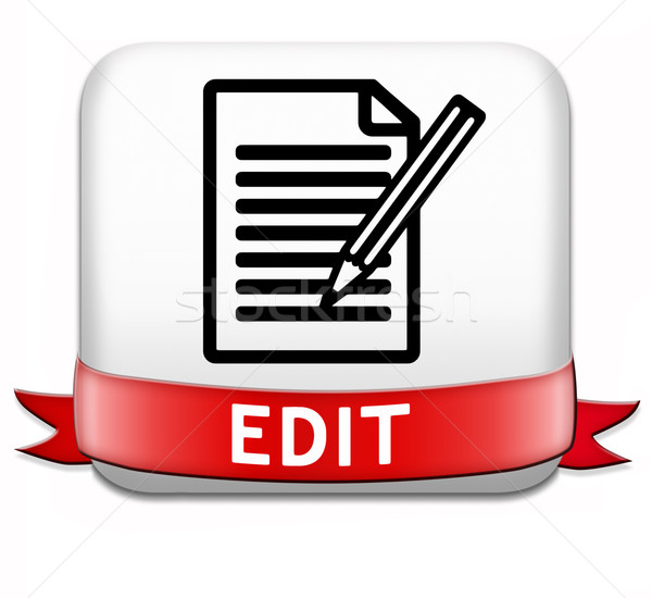 editing button Stock photo © kikkerdirk