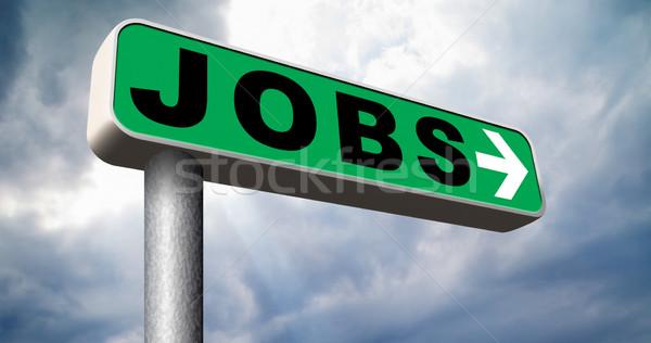 álláskeresés talál állások online karrier alkalmazás Stock fotó © kikkerdirk