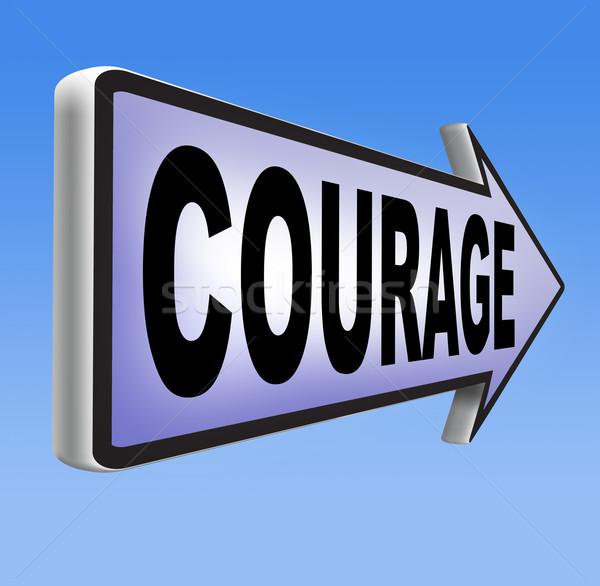 Coragem capacidade medo dor perigo incerteza Foto stock © kikkerdirk