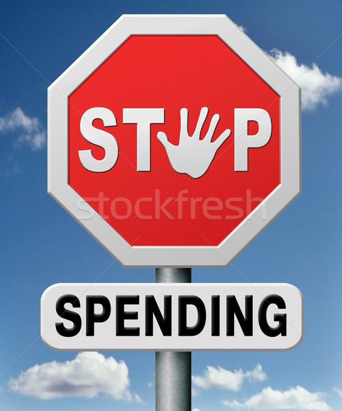 Arrêter argent choses budgétaire pas ressources Photo stock © kikkerdirk