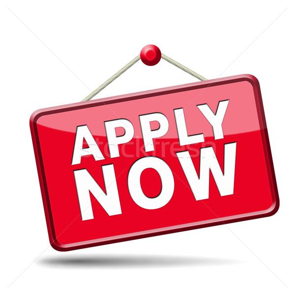 apply now icon Stock photo © kikkerdirk
