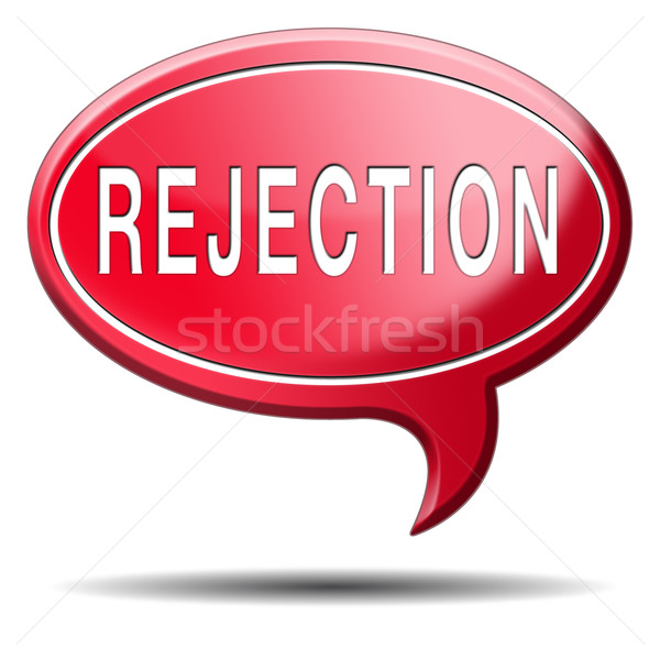 Stock photo: rejection