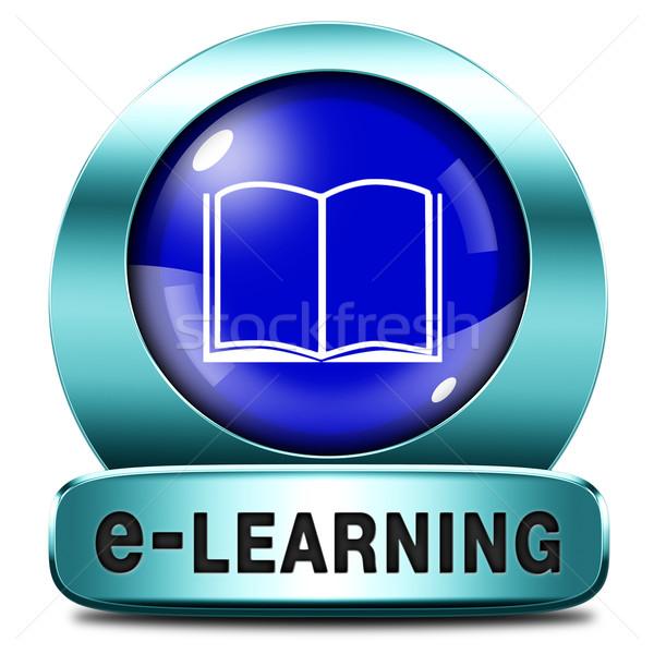 Online oktatás online internet tanul nyitva iskola Stock fotó © kikkerdirk