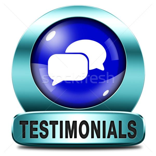 Cliente feedback icono botón comentario Foto stock © kikkerdirk