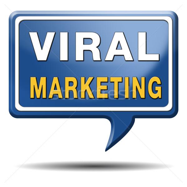 вирусный маркетинга Маркетинговая стратегия онлайн интернет рынке Сток-фото © kikkerdirk