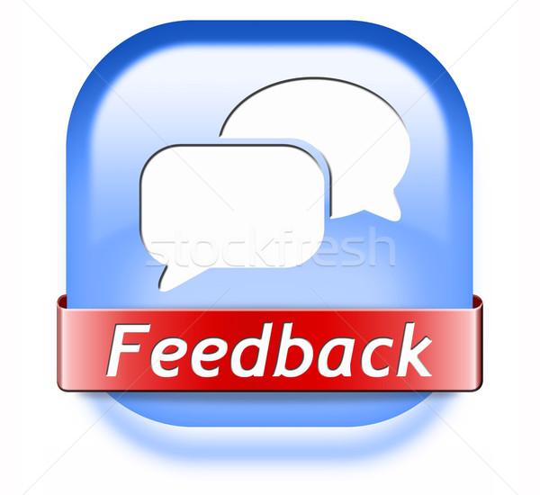feedback button Stock photo © kikkerdirk