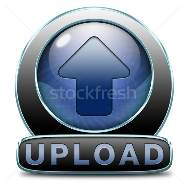Feltöltés ikon akta irat film videó Stock fotó © kikkerdirk