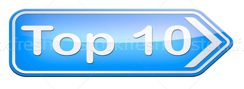 Superior 10 gráficos lista pop Foto stock © kikkerdirk