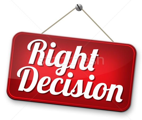 Décision choix importante judicieux choisir Photo stock © kikkerdirk
