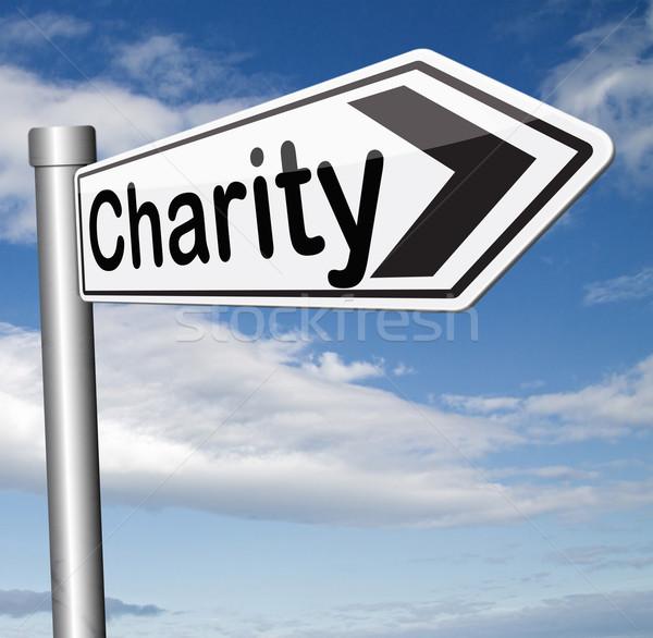 Stock photo: charity donation