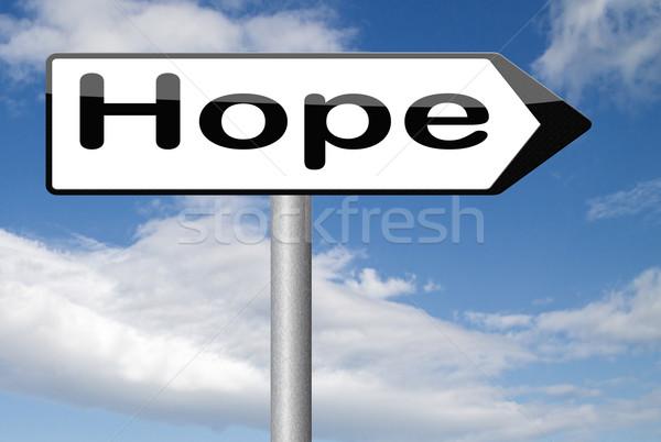 Esperanza signo pensar positivo brillante futuro Foto stock © kikkerdirk