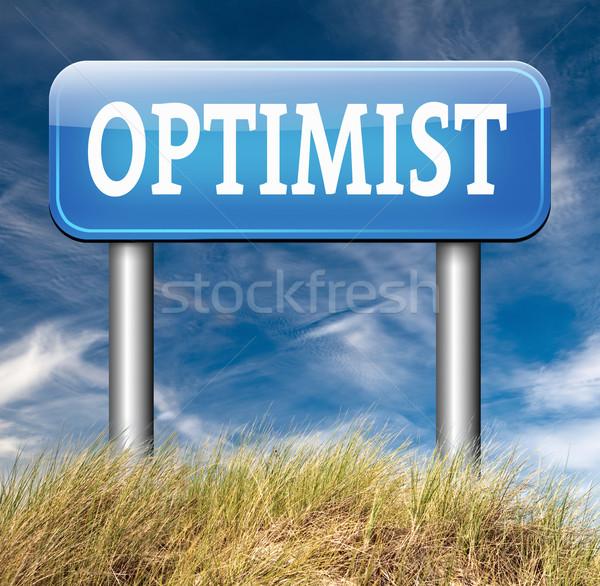 Optimist optimisme denk positief positiviteit houding Stockfoto © kikkerdirk