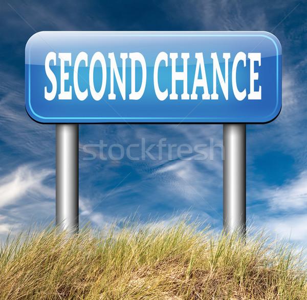 Tweede kans ander nieuwe gelegenheid Stockfoto © kikkerdirk