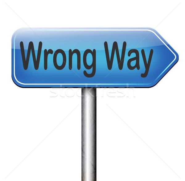 wrong way sign Stock photo © kikkerdirk