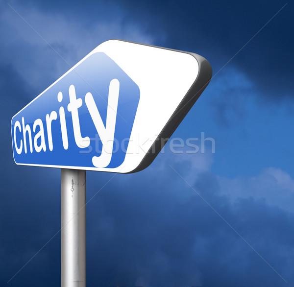 Caridad donación dar necesitado pobres donar Foto stock © kikkerdirk