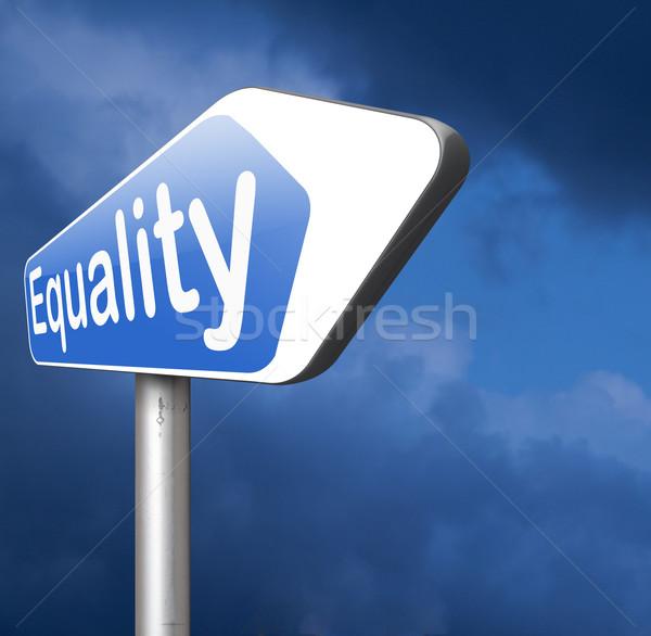 Igualdade solidariedade igual direitos oportunidades não Foto stock © kikkerdirk