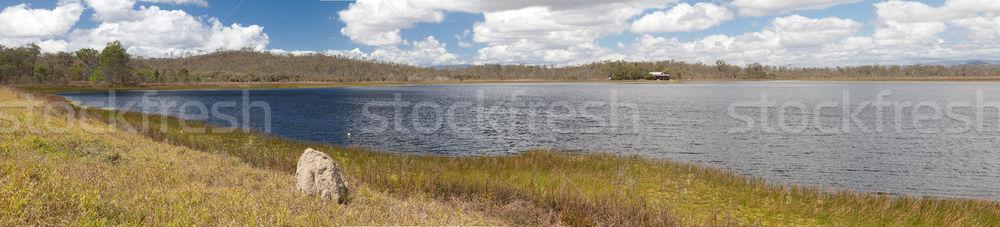 Ausztrál mocsár tó Queensland Ausztrália panoráma Stock fotó © kikkerdirk