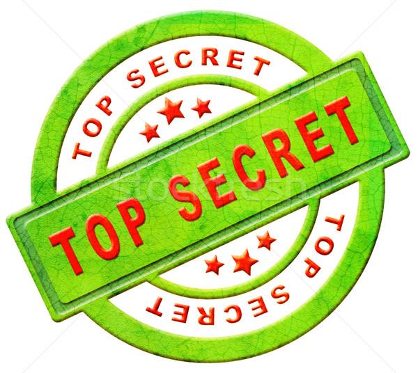 top secret icon Stock photo © kikkerdirk