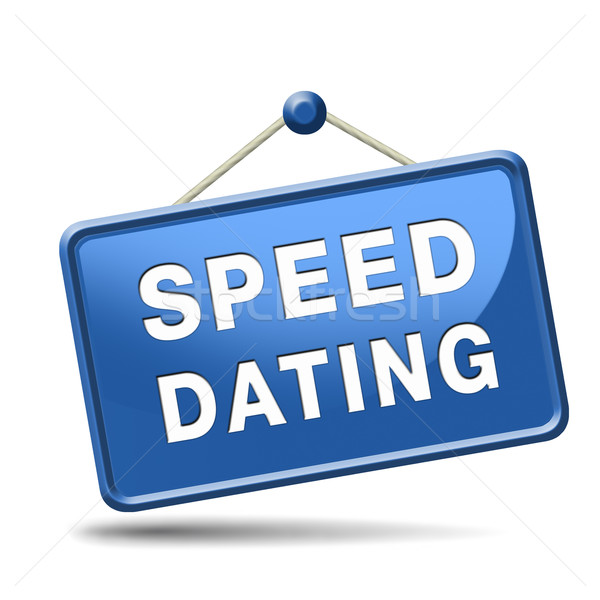 Stock photo: speed dating sign