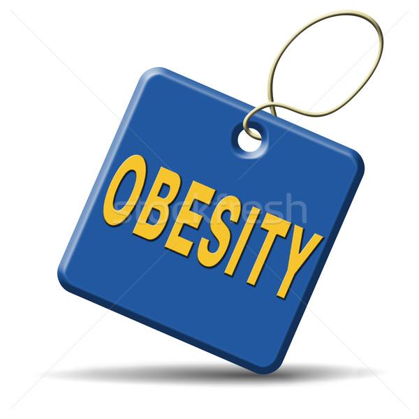 Fettleibigkeit Gewicht Übergewicht fettleibig Menschen Essen Stock foto © kikkerdirk