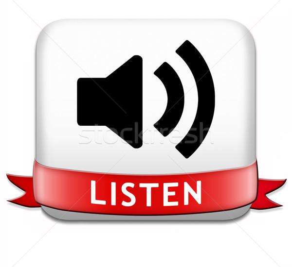 listen button Stock photo © kikkerdirk