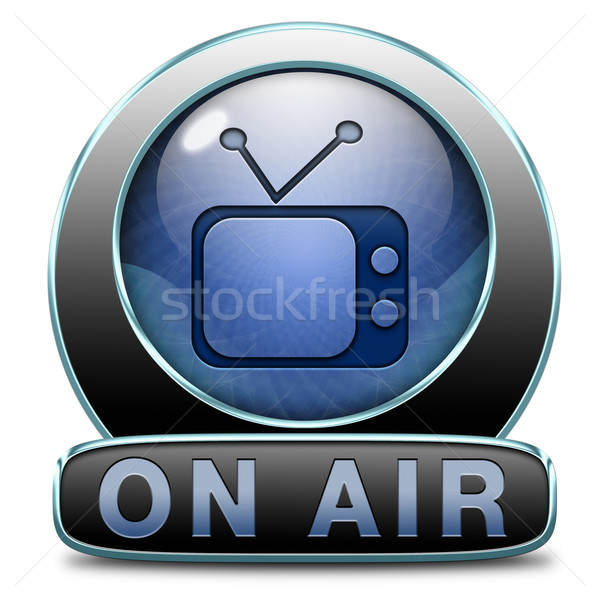 Stock photo: tv on air