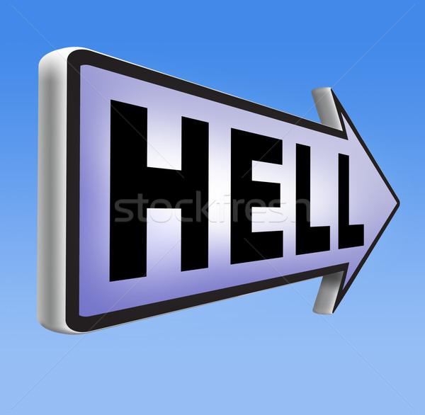 Zdjęcia stock: Widziane · piekła · zło · diabeł · katastrofa · podpisania