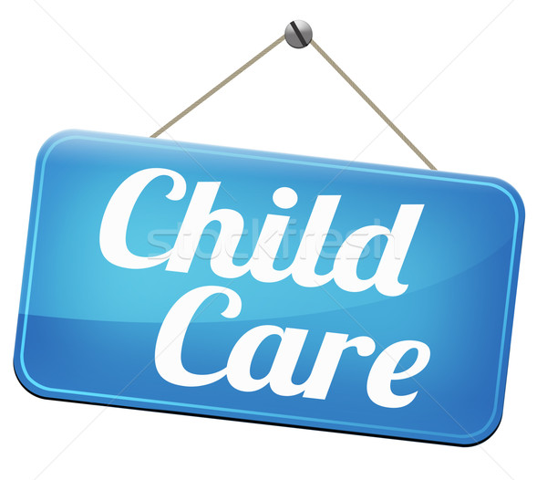 Gyermekgondozás óvoda dajka pár gyereknevelés védelem Stock fotó © kikkerdirk