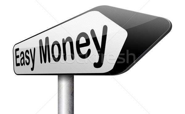 Fácil dinheiro rápido rápido extra numerário Foto stock © kikkerdirk