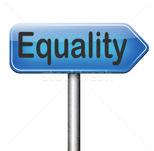 Egyenlőség nem különbség egyenlő jogok lehetőségek Stock fotó © kikkerdirk