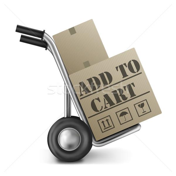 カート オンラインショッピング アイコン インターネット ウェブ ショップ ストックフォト © kikkerdirk