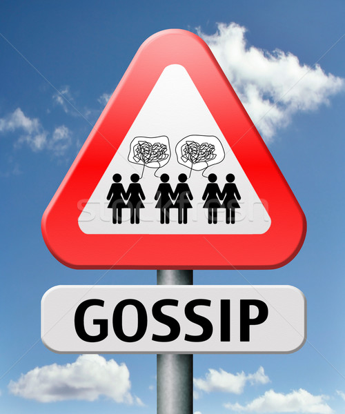 gossip Stock photo © kikkerdirk