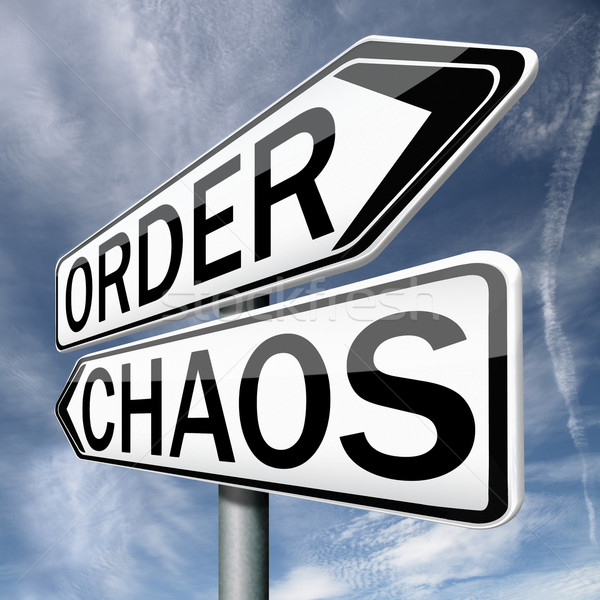 Ordem caos vida político caótico teoria Foto stock © kikkerdirk