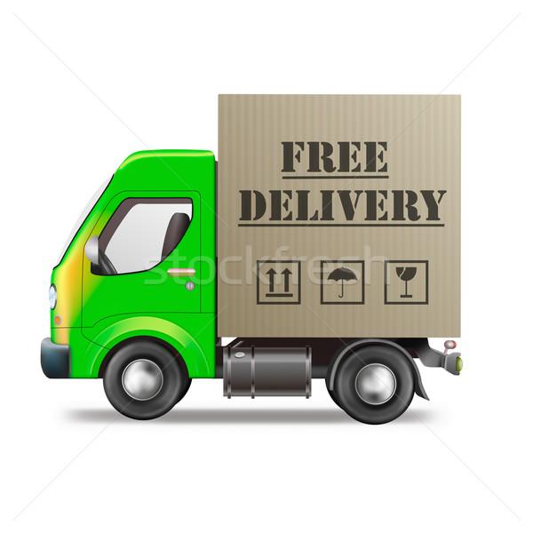Vrachtwagen online om scheepvaart internet Stockfoto © kikkerdirk