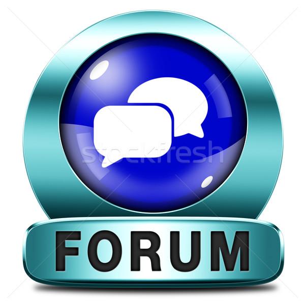 Forum icône internet bouton site www Photo stock © kikkerdirk