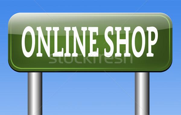 Online winkel internet web winkelen webshop Stockfoto © kikkerdirk
