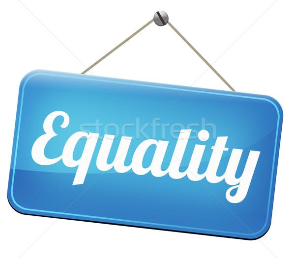 Сток-фото: равенство · солидарность · равный · правые · нет