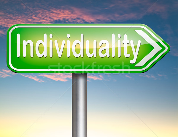 Individualiteit menigte verschillend uniek persoonlijkheid Stockfoto © kikkerdirk