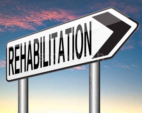 Rehabilitasyon rehabilitasyon ilaçlar alkol bağımlılık spor Stok fotoğraf © kikkerdirk